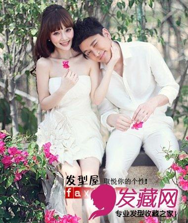 贾乃亮李小璐7月6日大婚 李小璐甜美发型拍婚纱照(7)图片