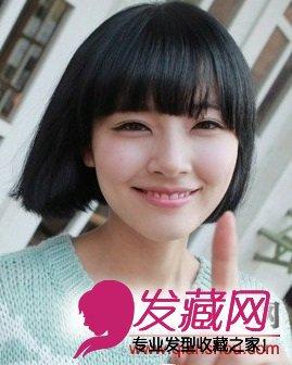 韩式短发发型图片 清新感女生发型(6)