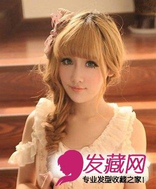 女生齐刘海发型 梨花头马尾辫简约时髦(7)图片
