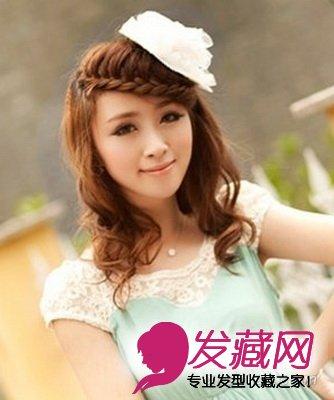 增加了发型的时尚感,刘海编发发型将女生的额头包裹了起来,缩小了女生