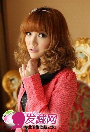 齐刘海烫发发型设计图片