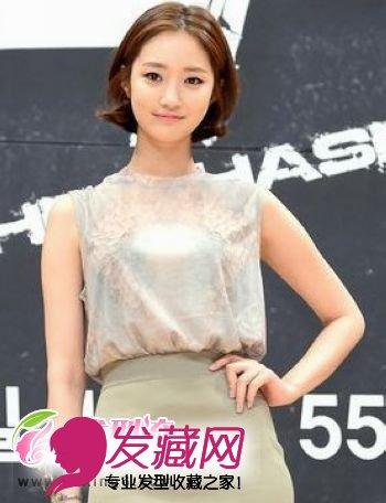 韩国儿童偏爱的短发韩式女孩(5)时尚女星发型发型2018图片