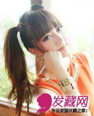 丸子头扎出别样魅力(6)  导读:马尾辫发型扎法 这款甜美可爱的韩式