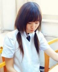 清纯学院风女生发型  2015年流行发型