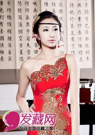 旗袍新娘发型 古典有韵味(5)