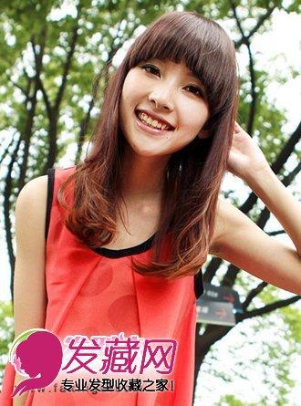 齐刘海梨花头发型图片
