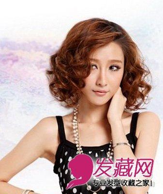 感活力,选择一款俏丽的女生烫发,短发烫发是最清新的发型图片