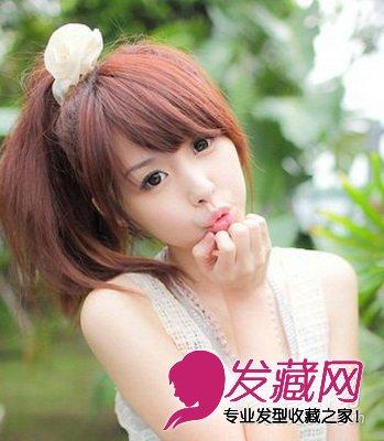 樱花妹最爱的16款蓬松发型   甜美可爱的 韩式发型扎法,展现出女生