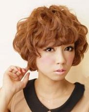 女生纹理烫  时尚日系女生短发纹理烫