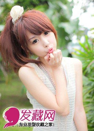 甜美可爱的韩式发型扎法