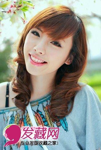 不同脸型适合的瘦 →韩式短发外卷发型 短发梨花头优雅减龄 →中分
