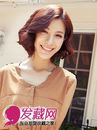 中分短发发型设计 发型设计女生短发中分 圆脸短发中分发型设计