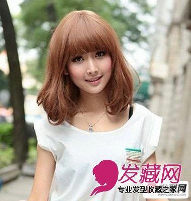 圆脸发型设计短发梨花头发型