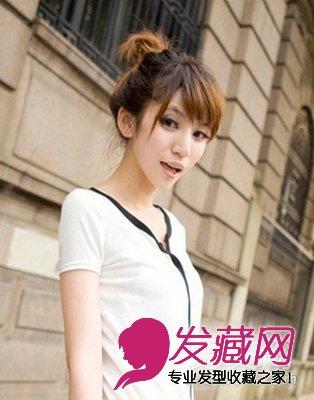 【图】可爱盘发发型 清凉最新萌系短发(2)