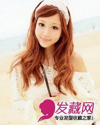 【图】平刘海卷发发型图片