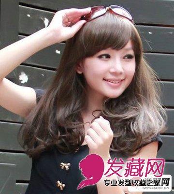 迷人淑女黑色中长发梨花 →【梨花头发型】中长发梨花头怎么烫