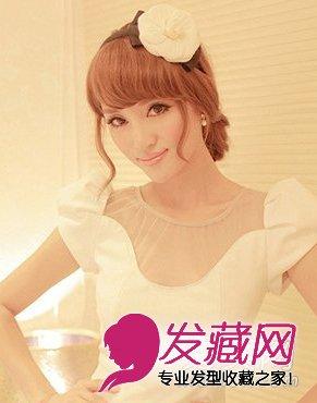 清纯甜美文艺范波波头发型图片 韩式设计瘦 →可爱甜美风蛋卷头长发