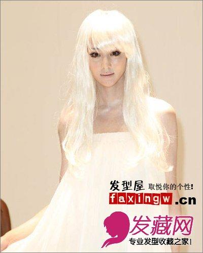 【图】银白色头发图片