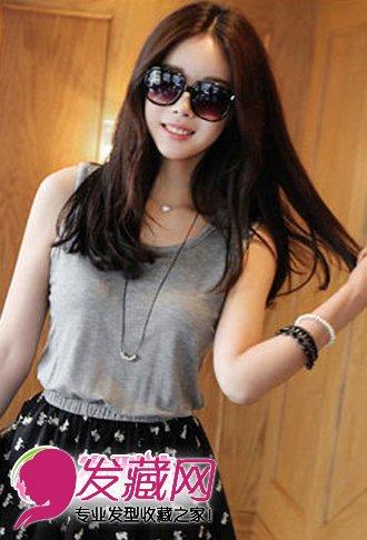 清纯优雅直发发型(5)_直发发型_发藏网; 韩国潮女减龄发型图片(2); 图片