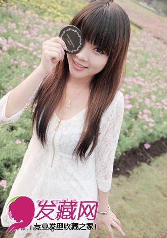 优雅中长直发发型 青春美丽可爱女生(6)