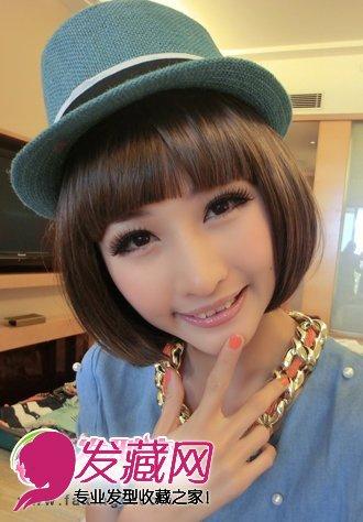 波波头 甜美女生波波头发型(4)