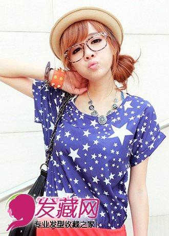 侧扎的小发髻韩式发型扎法,很俏皮可爱的一款韩式发型,发髻发型的