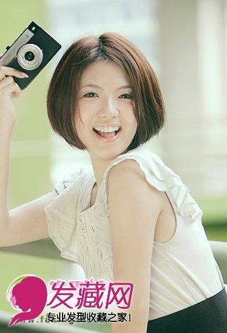 最新中分女生短发发型