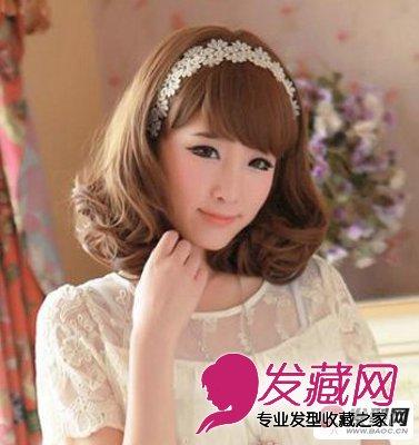 梨花头发型图片         这款短发梨花头展示出了女生清爽甘甜的气质