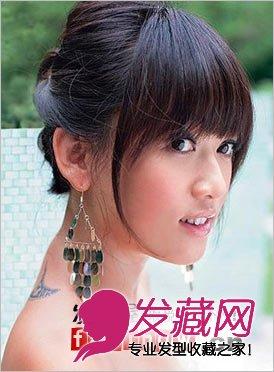 齐刘海把人的脸型衬托得更完美,后面的图片