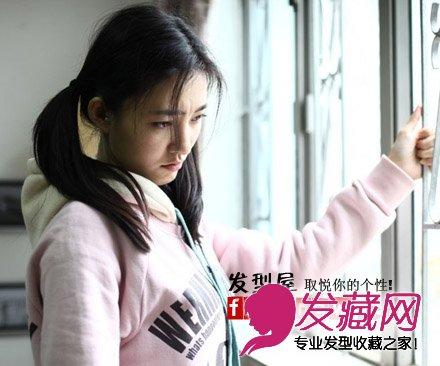 王丽坤剧中可爱双马尾图片