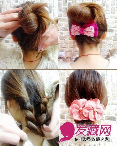 4款易学瘦脸发型 美女发型盘发步骤图片