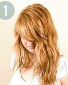 长头发的扎法图解 一款古典文雅的女生韩式编发