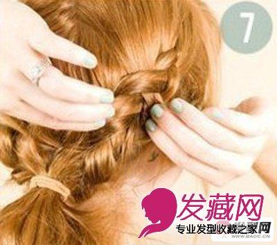 长头发的扎法图解 一款古典文雅的女生韩式编发(7)图片