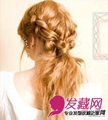 长头发的扎法图解完成后的效果图:这一款文雅古典的女生长