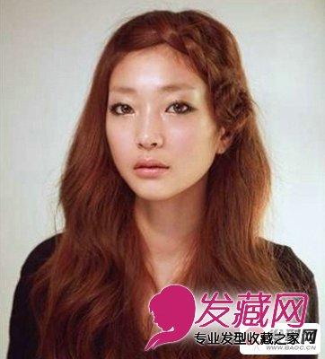无刘海直发发型扎法 超简单的刘海编发教程(4)图片