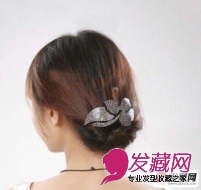 长发如何盘发 淑女气质的韩式盘发发型图片(6)图片