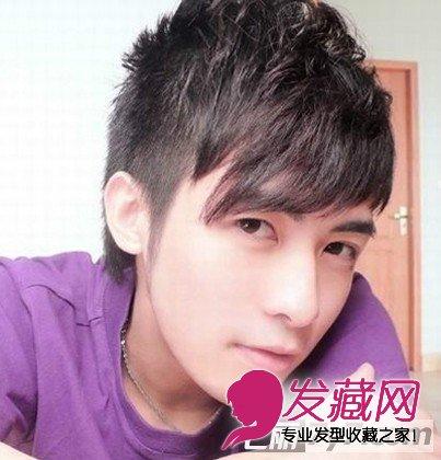 2012男生流行帅气短发 最新男生短发发型图片小编点评:蓬松感的男