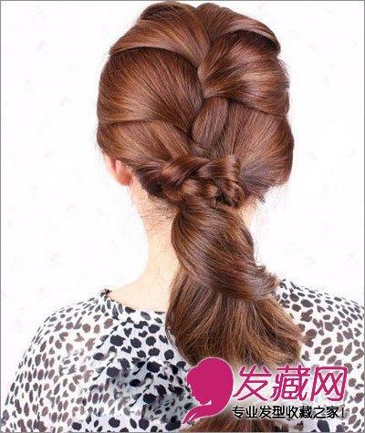 韩式长发编发盘发图解 让你拥有淑女气质(6)