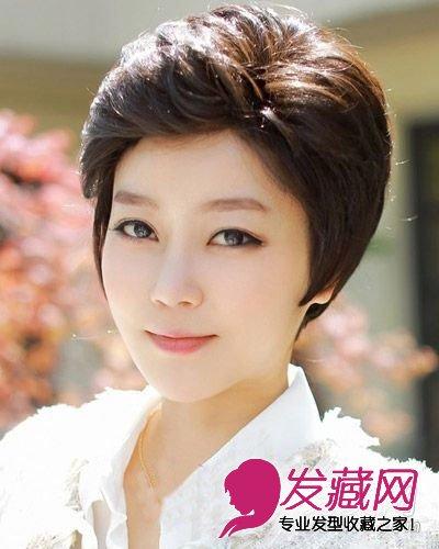 2015韩式短发烫发 尽显优雅知性气质(4)