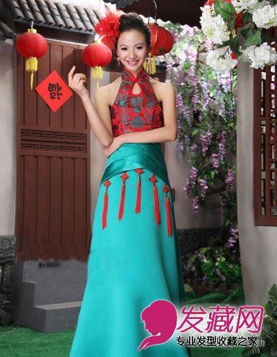 浓浓中国风,中式旗袍新娘发型,优雅盘发,自然大气,端庄典雅,既有