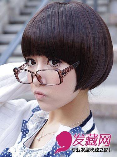 清纯又瘦脸 9月女学生短发发型(2)图片