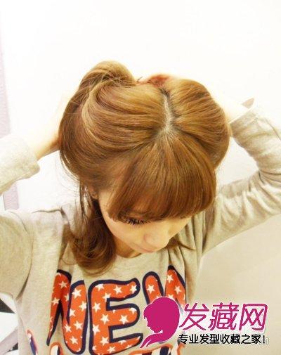 日本人气发型 猫耳朵发型diy技巧(4)