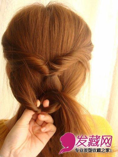 简单直发发型扎法步骤 尽显淑女范儿(7)