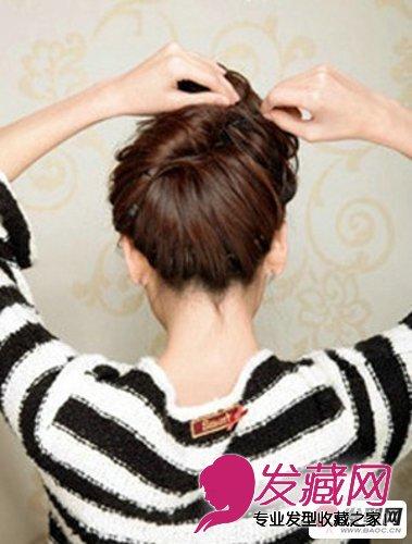 丸子头扎法 简单又好看的丸子头发型扎法(4)