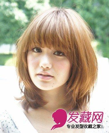 圆脸女生发型设计,五款中长发完美瘦脸 →小脸适合的发型,长发短发