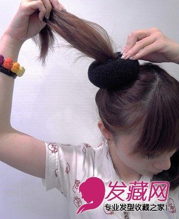最新小女孩发型图片 打造可爱小公主 →简练长发发髻diy 甜蜜可爱