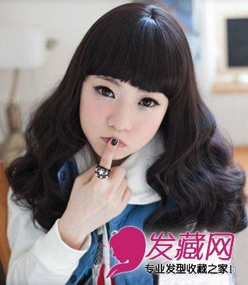 卷发发型图片 > 最新韩式蛋卷头 甜美减龄超可爱(6)  导读:黑发的自然图片