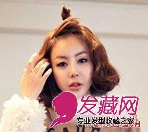 【图】最新女生中短发荷花头_时尚发型_发藏网图片