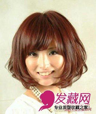 【图】最新女生中短发荷花头(2)_时尚发型_发藏网图片