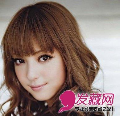 长脸适合发型 > 发型师解析 包子脸适合什么发型(5)  导读:齐刘海大卷